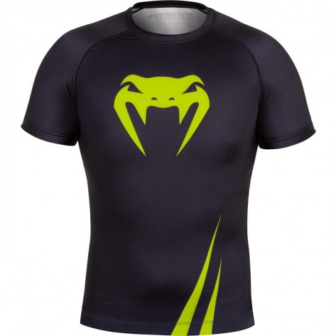 Venum Rashguard challenger Black/Yellow