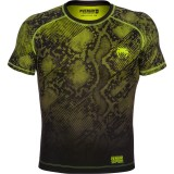 Venum Fusion Compression T-Shirt Black/Yellow
