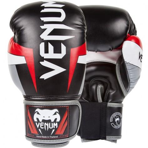 Venum Elite Skintex - Black/Grey/Red