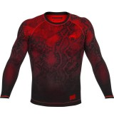 Venum Fusion Compression T-Shirt Black/Red Long