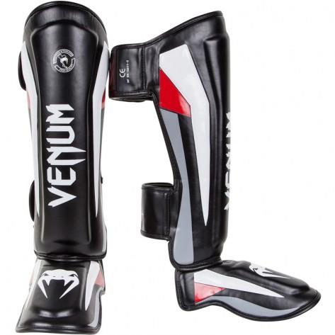 Venum Elite Standup Shinguard - Black/Red/Grey