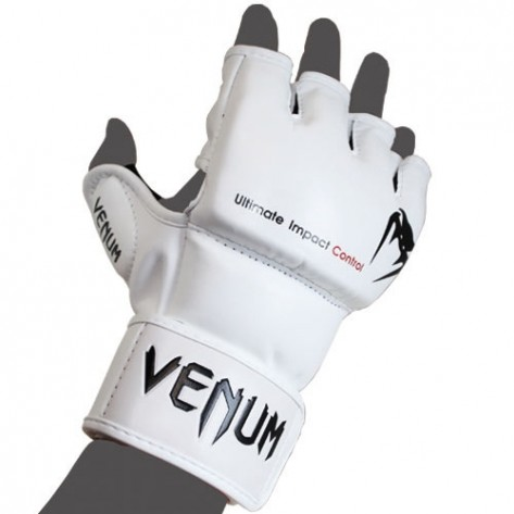 Venum Impact White Gloves
