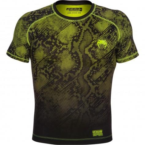 Venum Fusion Compression T-Shirt Black/Yellow