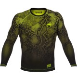 Venum Fusion Compression T-Shirt Black/Yellow Long