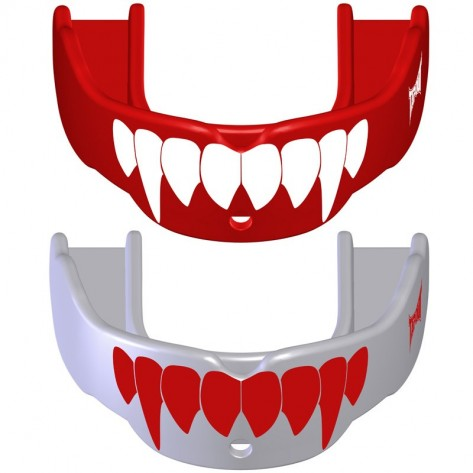 2 Paradenti Tapout Fang Rosso/Bianco