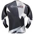 HAYABUSA METARU RASHGUARD L/S BLACK/WHITE